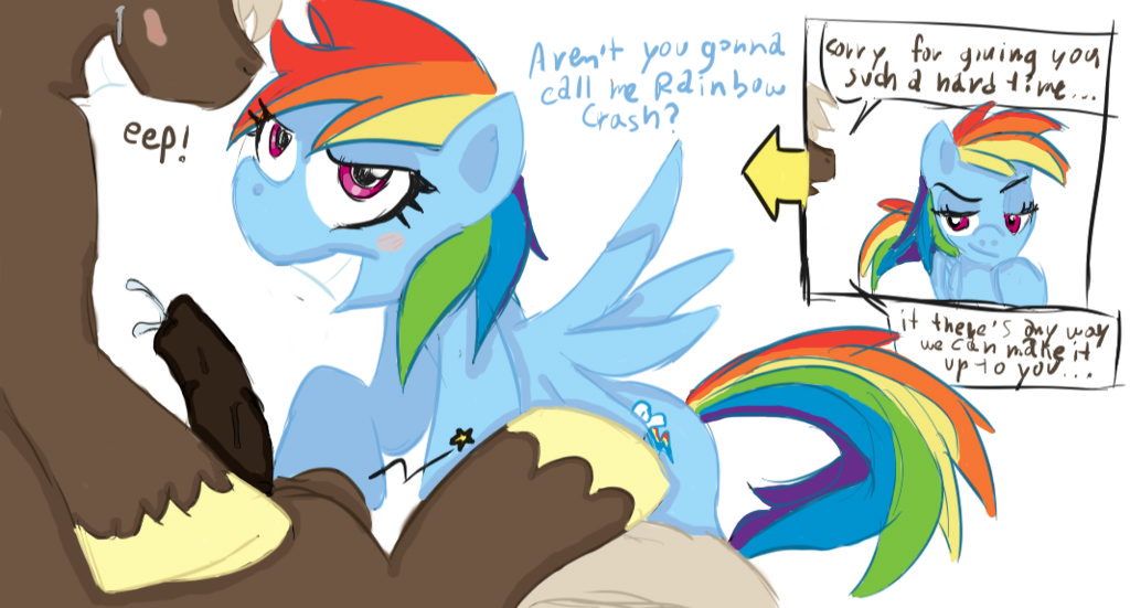 mlp art rainbow dash fan What are you gay gif