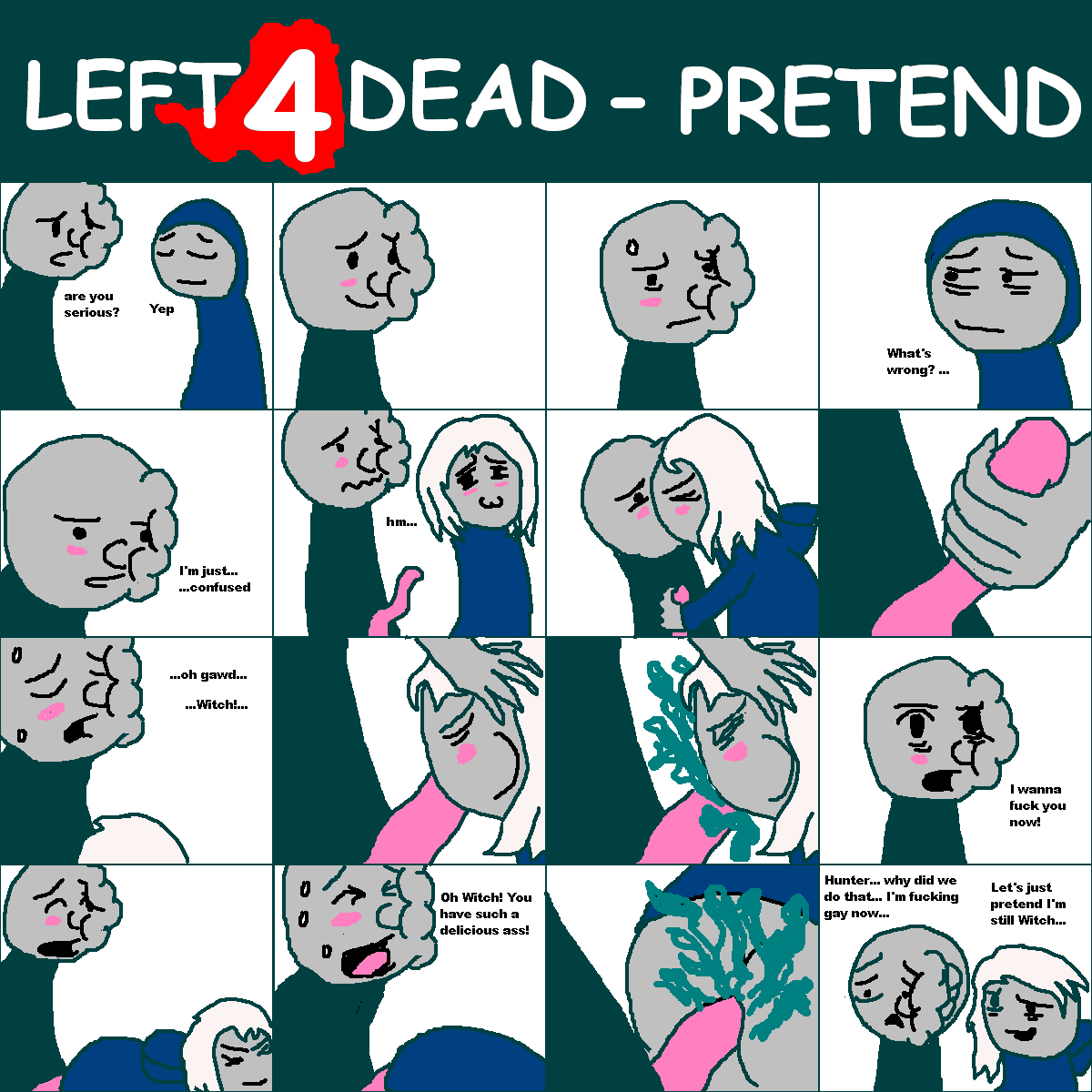 left 4 comic dead porn Chica and the night guard